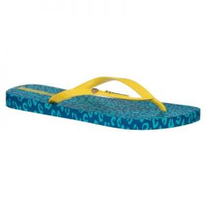 Japonki Ipanema Animal Print FEM 81695 Blue/Yellow 20688